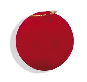 Krabička červená semišová koule