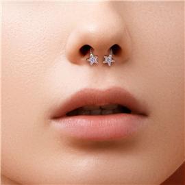 Piercing podkova hvězdičky PPO00103